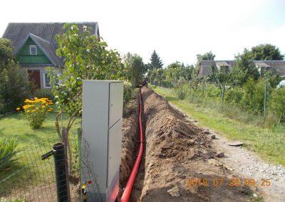 0,4 kV kabelių linijų montavimas